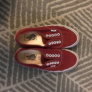 Vans m 6.5 w 8 Madder red authentic sneakers